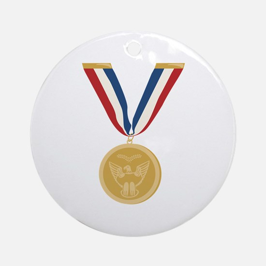 Gold Medal Of Honor Ornament (Round)