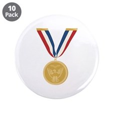 """Gold Medal Of Honor 3.5"""" Button (10 pack)"""
