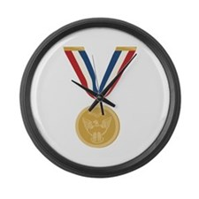 Gold Medal Of Honor Large Wall Clock