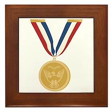 Gold Medal Of Honor Framed Tile