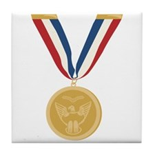 Gold Medal Of Honor Tile Coaster