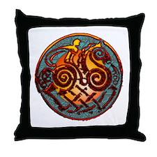 Odin, Odhin, god of the hunt Throw Pillow