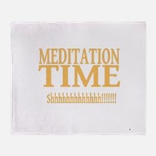 Meditation Time Throw Blanket