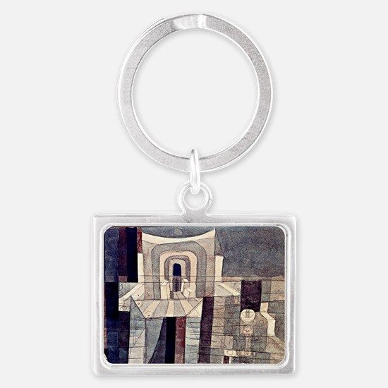 Klee - Architecture in Red and  Landscape Keychain