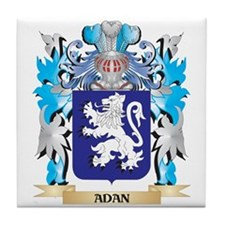 Adan Coat Of Arms Tile Coaster