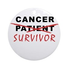 Cancer Survivor Ornament (Round)