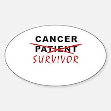 Cancer Survivor Oval Decal