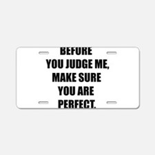 Be Awesome Aluminum License Plate