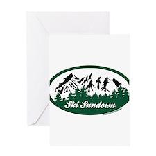 Ski Sundown State Park Greeting Cards