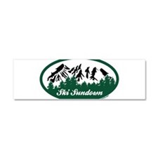 Ski Sundown State Park Car Magnet 10 x 3