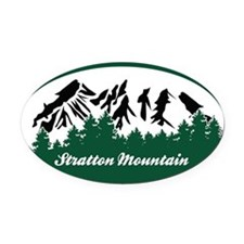 Stratton Mountain State Park Oval Car Magnet