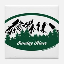 Sunday River State Park Tile Coaster