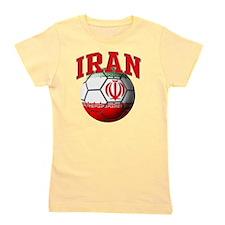 Flag of Iran Soccer Ball Girl's Tee