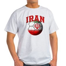 Flag of Iran Soccer Ball T-Shirt