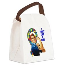 I Fight Like A Girl Canvas Lunch Bag