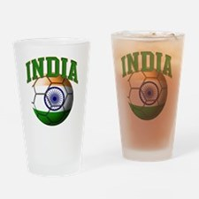 Flag of India Soccer Ball Drinking Glass