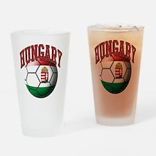 Flag of Hungary Soccer Ball Drinking Glass