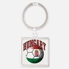 Flag of Hungary Soccer Ball Square Keychain