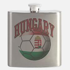 Flag of Hungary Soccer Ball Flask