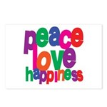 Peace, Love, Happiness Postcards (Package of 8)