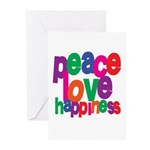 Peace, Love, Happiness Greeting Cards (Package of