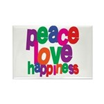 Peace, Love, Happiness Rectangle Magnet (10 pack)