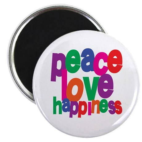 Peace, Love, Happiness Magnet