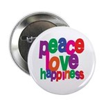 Peace, Love, Happiness Button