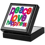 Peace, Love, Happiness Keepsake Box