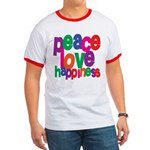 Peace, Love, Happiness Ringer T