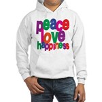 Peace, Love, Happiness Hooded Sweatshirt