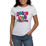 Peace, Love, Happiness Women's T-Shirt