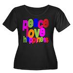 Peace, Love, Happiness Women's Plus Size Scoop Nec