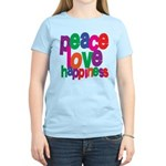 Peace, Love, Happiness Women's Light T-Shirt