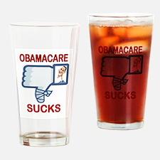 OBAMACARE SUCKS Drinking Glass