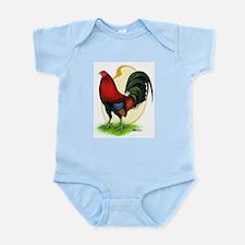 Red Gamecock3 Infant Bodysuit