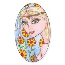 Hippie chick Fairy Decal