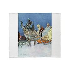 Snow Queen Ice Princess Throw Blanket