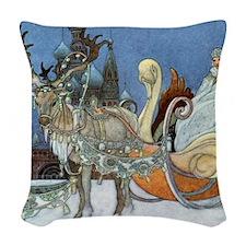 Snow Queen Ice Princess Woven Throw Pillow