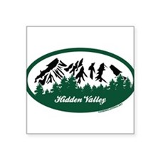 "Lost Valley State Park Square Sticker 3"" x 3"""