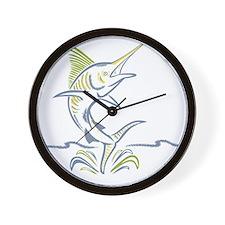 Mauritius marlin Wall Clock