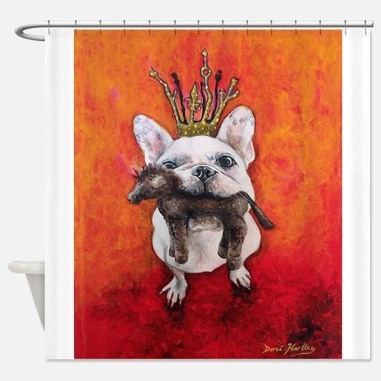LeRoi the French Bulldog Shower Curtain