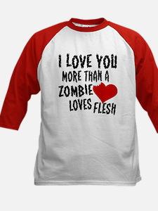Zombie Love Kids Baseball Jersey