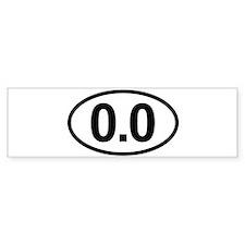 0.0 Zero Marathon Runners Run Bumper Bumper Sticker