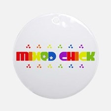 Mixed Chick Ornament (Round)