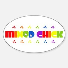 Mixed Chick Oval Decal