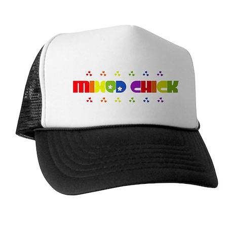 Mixed Chick Trucker Hat