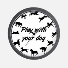 Play With Your Dog v3 Wall Clock