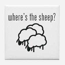 Where's The Sheep? Tile Coaster