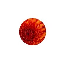 Red flower  Mini Button